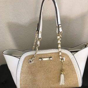 Jessica Simpson Cream Shoulder Bag